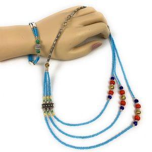 Traditional necklace and bracelet set